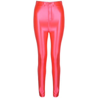 View Item Pink Shiny High Waisted Disco Pants