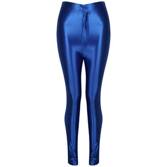 View Item Royal Blue Shiny High Waisted Disco Pants