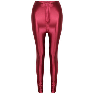 View Item Wine Shiny High Waisted Disco Pants