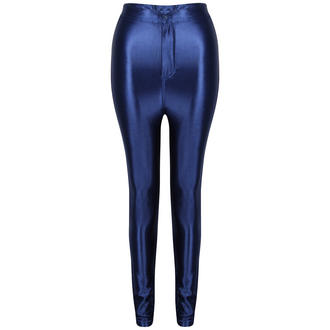 View Item Dark Blue Shiny High Waisted Disco Pants