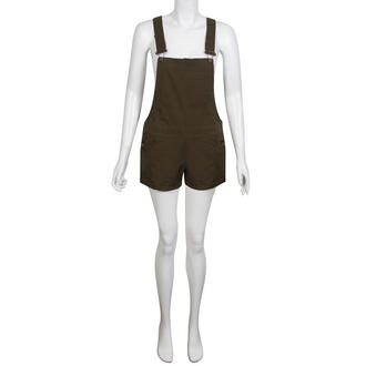 View Item Khaki Dungaree Playsuit