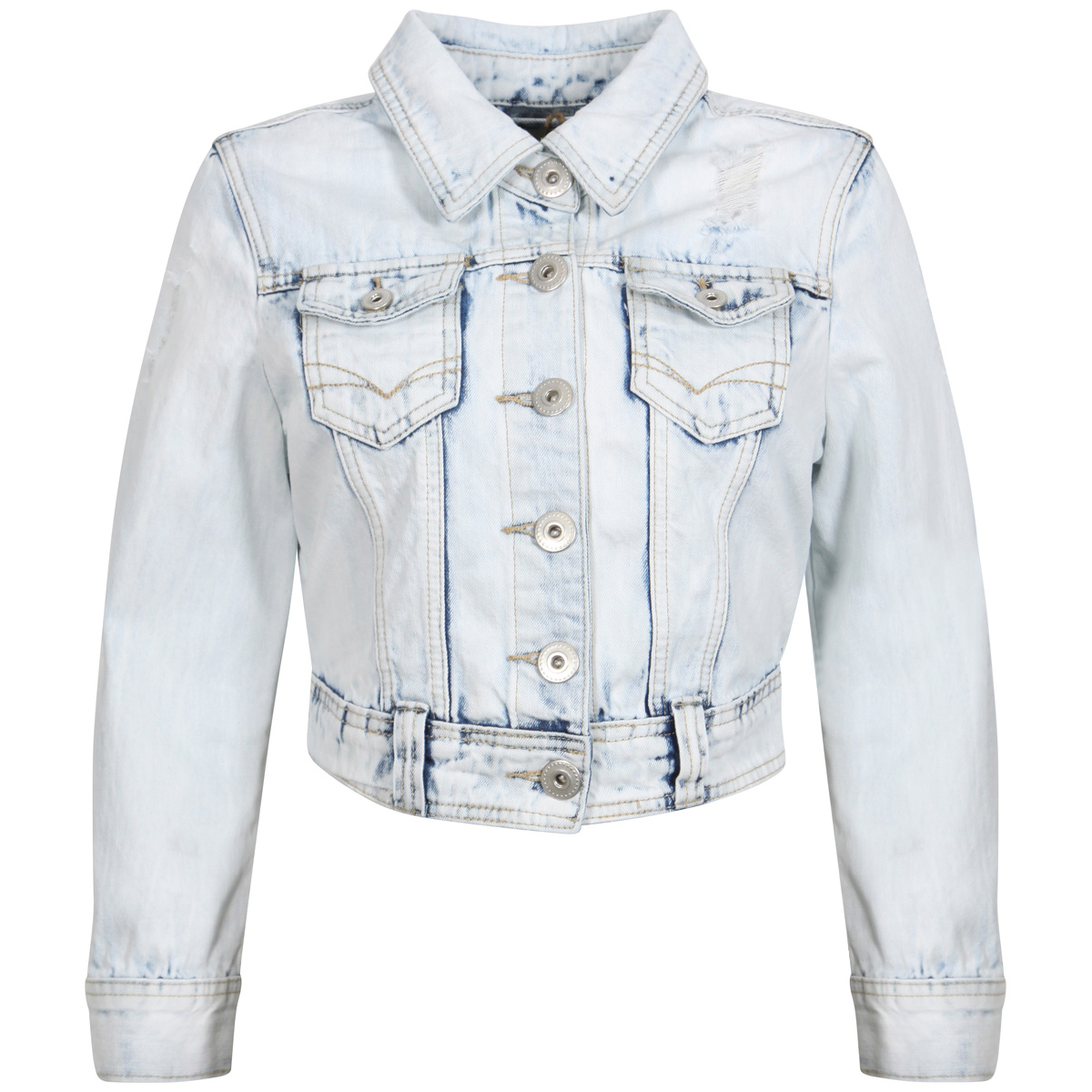 Stone Wash Cropped Denim Jacket Preview