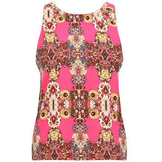 View Item Pink Jewell  Print Sleeveless Top
