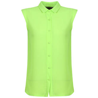 View Item Neon Green Cap Sleeve Shirt