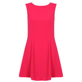 View Item Pink Sleeveless Pleat Dress