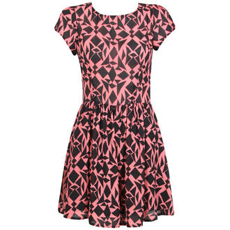 View Item Pink Geometric Print Skater Dress