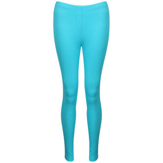 View Item Turquoise Denim Leggings