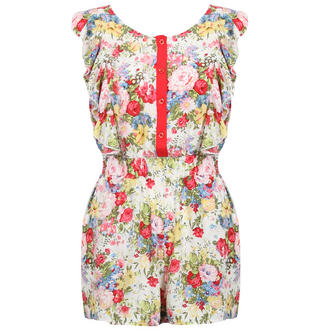 View Item Floral Playsuit