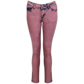 View Item Pink Faded Skinny Denim Jeans