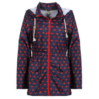 View Item Navy Heart Print Rain Mac