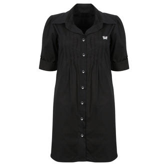 View Item Shirt Dress with Butterfly Stitching