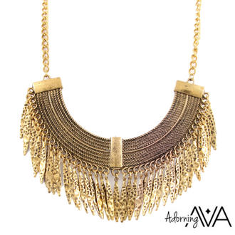 View Item Gold Spiked Collar