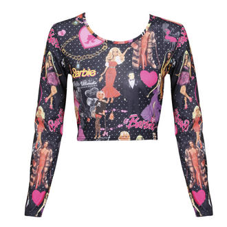 View Item Barbie Print Crop Top