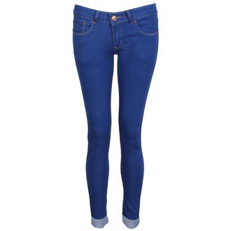 View Item Royal Blue Skinny Turn Up Jeans