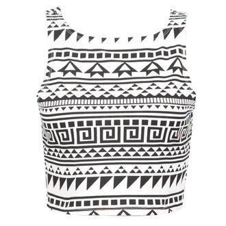 View Item Monochrome Aztec Crop Top