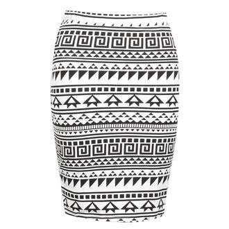 View Item Monochrome Aztec Pencil Skirt