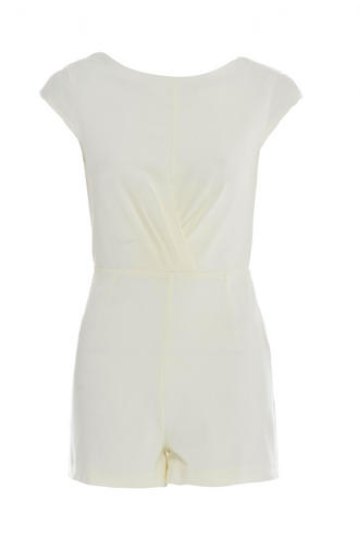 View Item Cream Structured Playsuit