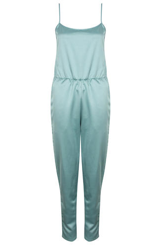View Item Dusty Blue Satin Jumpsuit