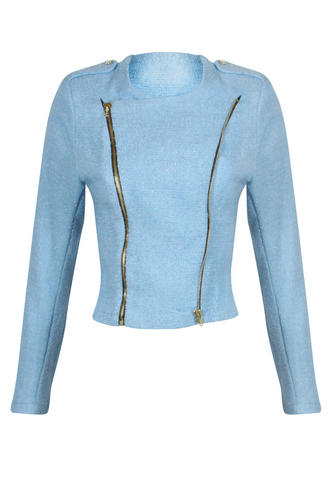 View Item Light Blue Cropped Jacket