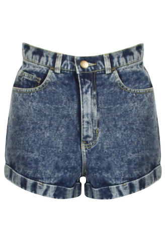 View Item Acid Wash High Waisted MOM Shorts