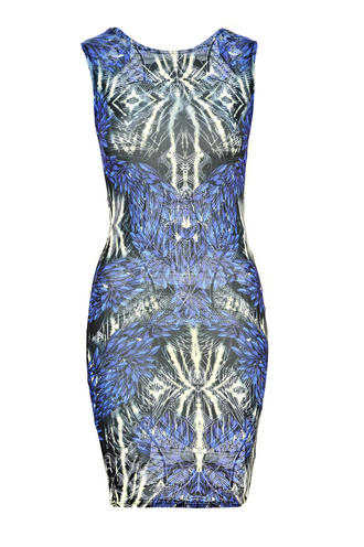 View Item Graphic Print Mini Bodycon Dress