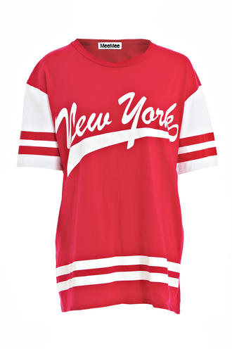 View Item New York Printed Oversized Tee