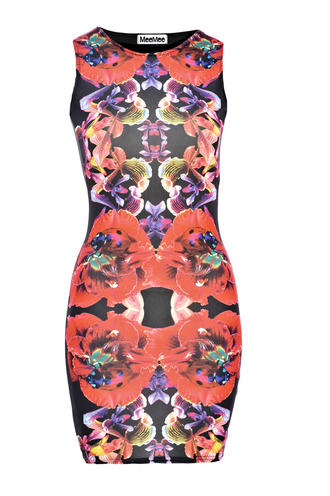 View Item Lady Bug Bodycon Mini Dress