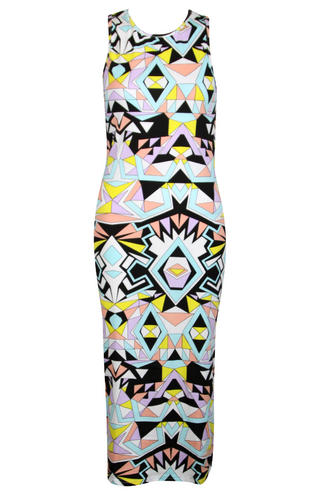 View Item Geo Print Midi Dress
