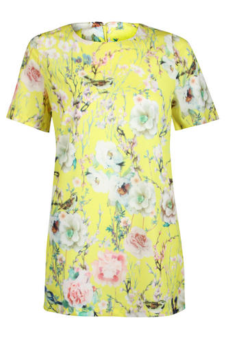 View Item True Decadence Yellow Print Shift Dress