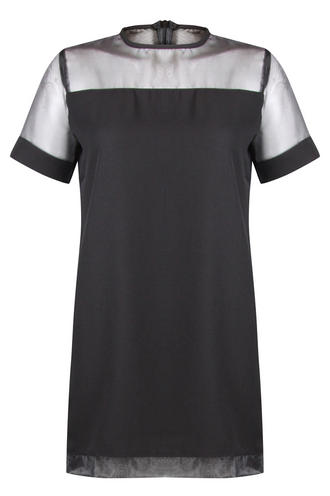 View Item Black Mesh Tshirt Dress