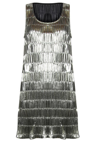 View Item Mink Pink Silver Foil Dress