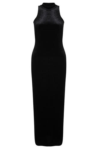 View Item Mink Pink Black Velvet Maxi Dress