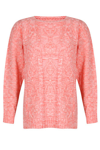 View Item Coral Knitted Jumper