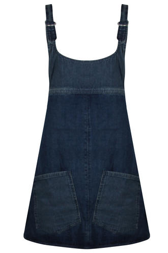 View Item Bellfield Denim Dungaree Dress