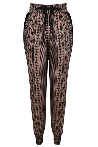 View Item Dusty Pink Aztec Print Trousers
