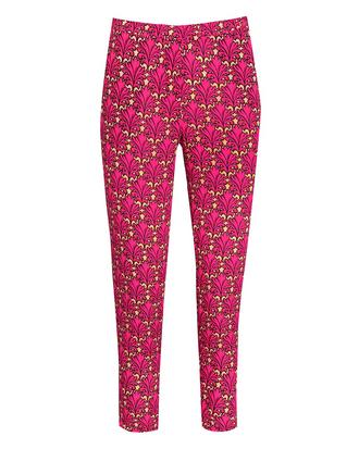 View Item Pink Leaf Print Trousers
