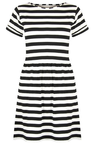 View Item Black White Stripe Tshirt Skater Dress