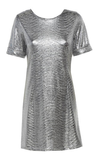 View Item Silver Foil Tee Dress