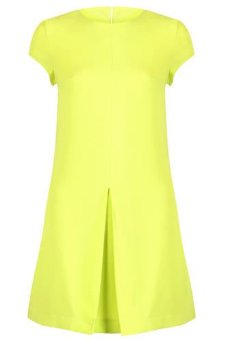 View Item Bold Colour Statement Dress in Lime Green