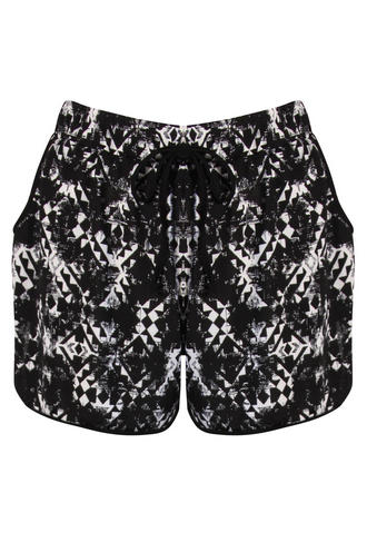 View Item Aztec Print Jogger Shorts