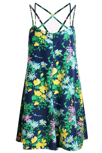 View Item Tropical Floral Cami Playsuit