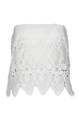 View Item Cream Crochet Detail Bandeau Top
