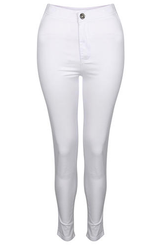 View Item Bright White High Waisted Skinny Jeans
