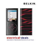 View Item Belkin iPod Nano 4G Silicon Sleeve Cover Black and Red