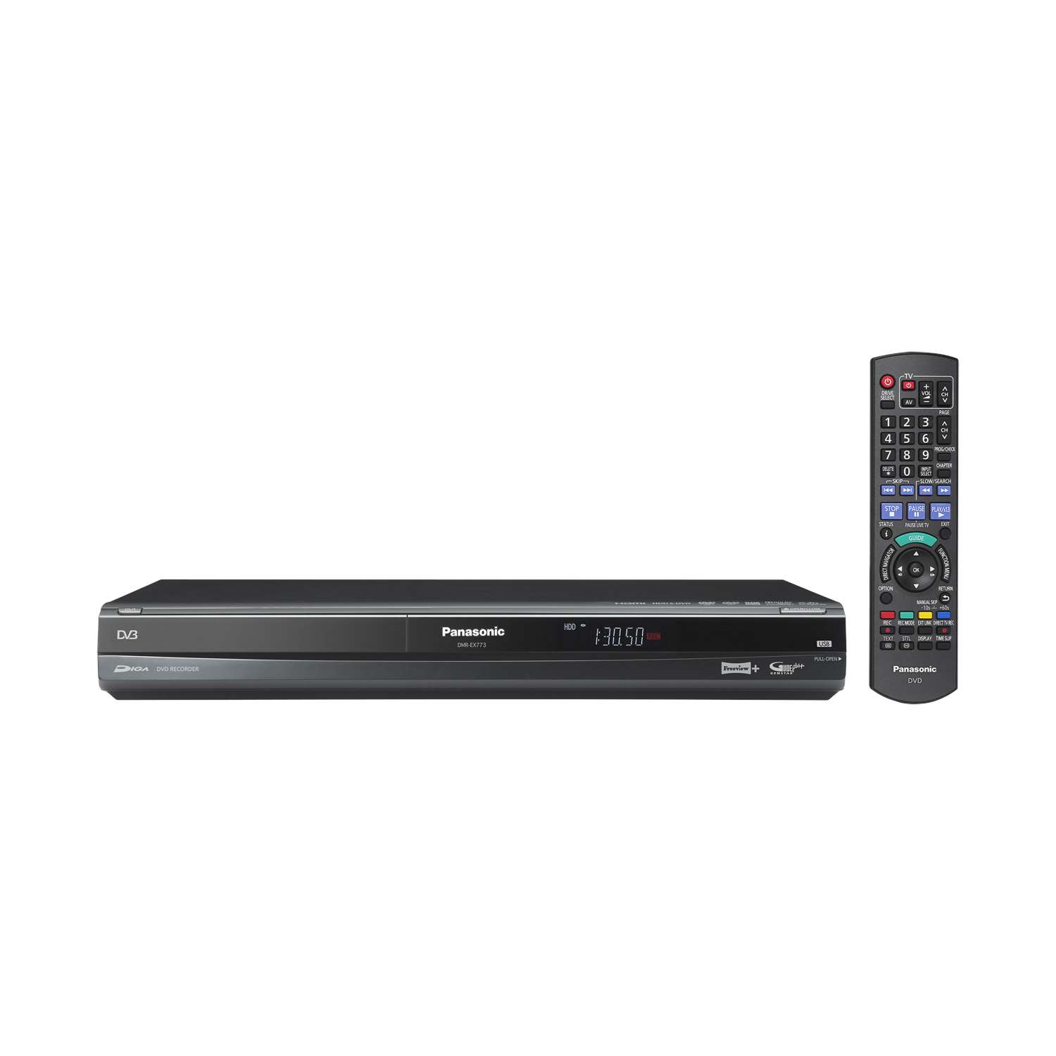 Panasonic DMR-EX773 DVD Recorder. DVD/HDD Recorder with a 160GB HDD & Freeview. Enlarged Preview