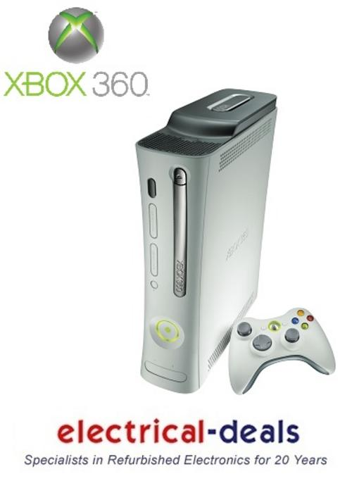 Microsoft XBOX 360 Pro Console with a 60GB Hard Drive & One Controller. White Preview