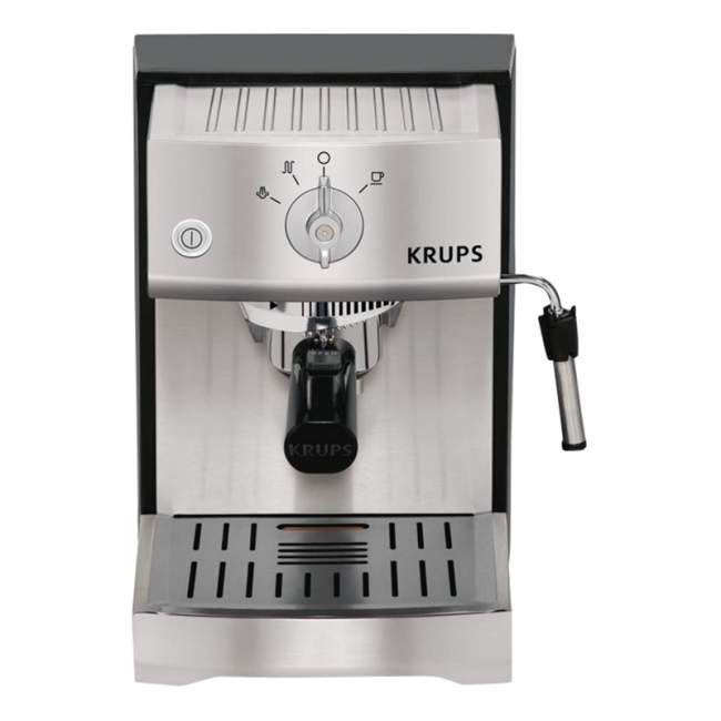 KRUPS XP5240 Precise Tamprature Pump Espresso Machine, Stainless Steel Enlarged Preview