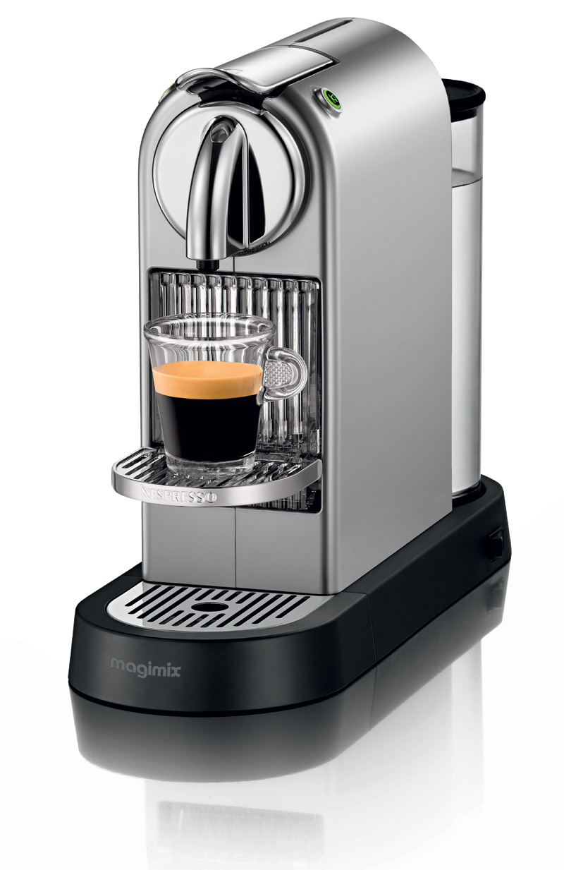 krups xn700240 nespresso citiz 19 bar pressure frosted aluminium coffee maker ebay. Black Bedroom Furniture Sets. Home Design Ideas