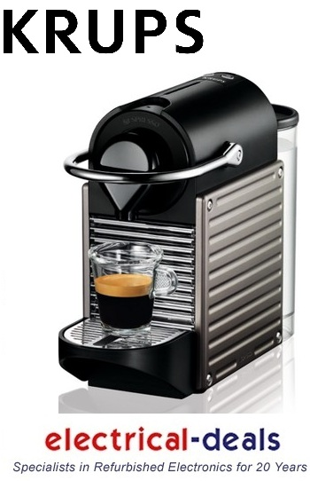 krups xn30054 nespresso pixie coffee machine 19 bar pressure titanium ebay. Black Bedroom Furniture Sets. Home Design Ideas