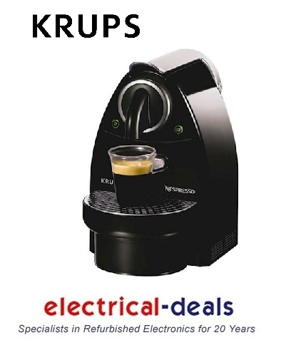 Krups XN212040 Nespresso Essenza Eco Coffee Machine 19 Bar Pressure Piano Black Enlarged Preview